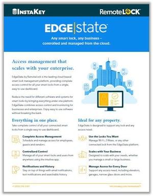RemoteLock EdgeState for Commercial