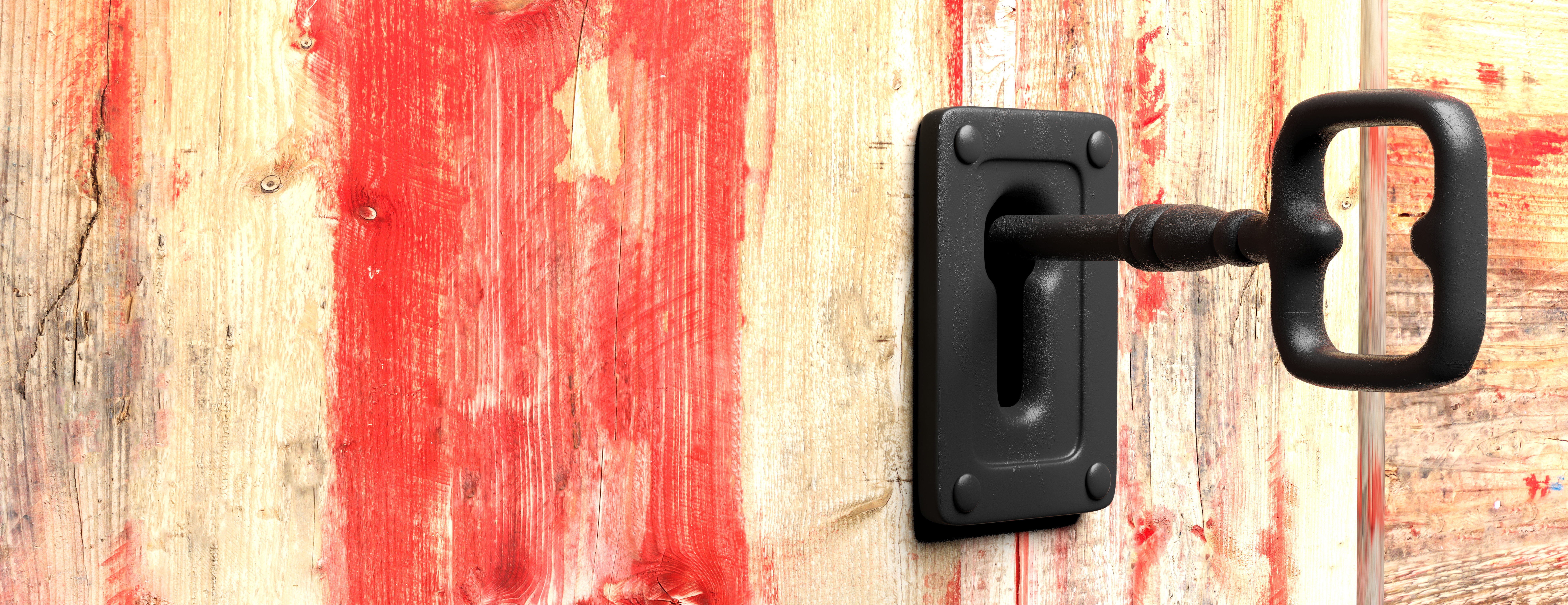 key-in-a-keyhole-red-wooden-background-3d-illustra-PUL2ENL